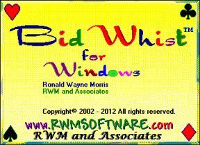 Screen Shots of Bid Whist for Windows